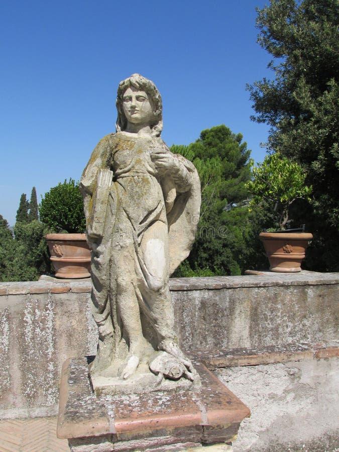 Παλαιά ρωμαϊκή βίλα αγαλμάτων d'Este στοκ εικόνες