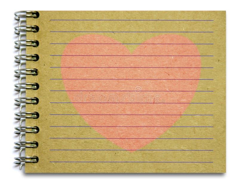 Παλαιά ρόδινη καρδιά σημειωματάριων στοκ φωτογραφίες με δικαίωμα ελεύθερης χρήσης