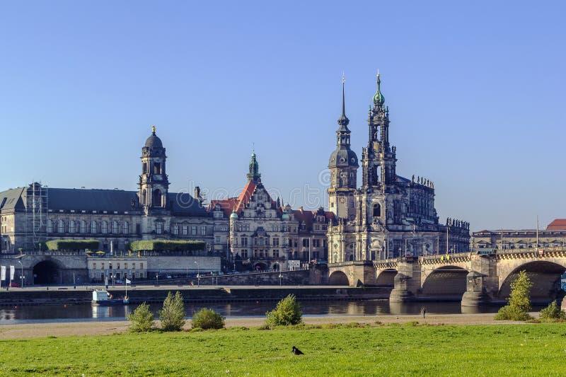παλαιά Σαξωνία πόλη της Δρέσδης Γερμανία στοκ εικόνες με δικαίωμα ελεύθερης χρήσης
