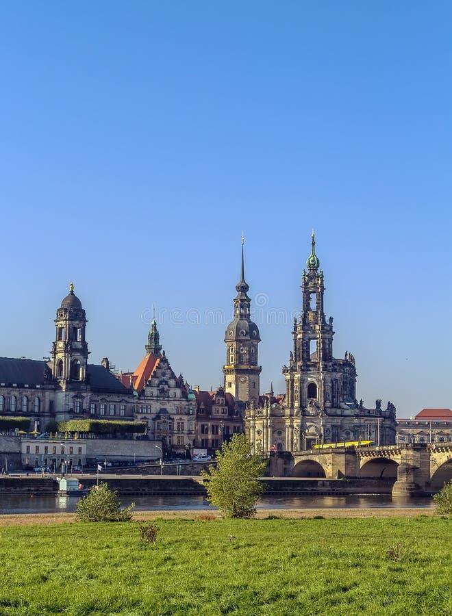 παλαιά Σαξωνία πόλη της Δρέσδης Γερμανία στοκ φωτογραφίες με δικαίωμα ελεύθερης χρήσης