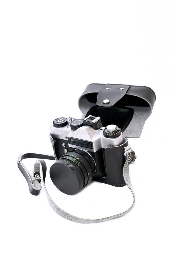 Παλαιά σοβιετική κάμερα ταινιών που απομονώνεται στοκ εικόνες με δικαίωμα ελεύθερης χρήσης
