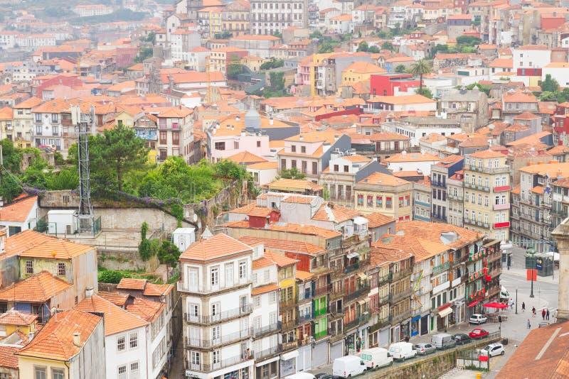 Παλαιά σπίτια στο ιστορικό μέρος της πόλης, Πόρτο στοκ εικόνα