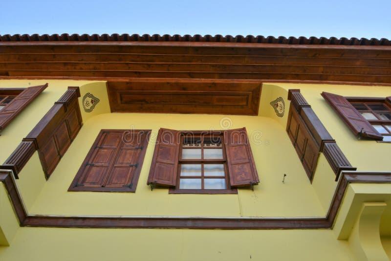 Παλαιά σπίτια του antalya στοκ εικόνα