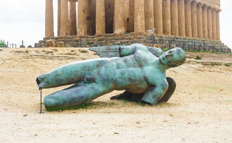 Παλαιά συμφωνία ναών, κοιλάδα των ναών, Agrigento, Σικελία στοκ εικόνες