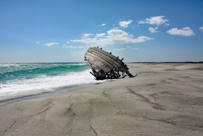 Παλαιά συντρίμμια σκαφών #1: Νησί Masirah, Ομάν στοκ φωτογραφία με δικαίωμα ελεύθερης χρήσης