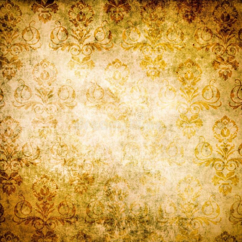 Παλαιά σύσταση εγγράφου grunge και εκλεκτής ποιότητας floral διακόσμηση στοκ φωτογραφία με δικαίωμα ελεύθερης χρήσης