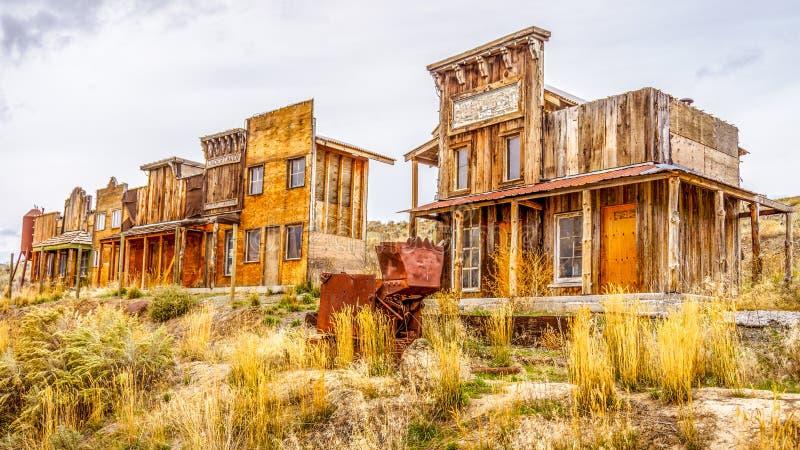 Παλαιά δυτική πόλη-φάντασμα στοκ φωτογραφία με δικαίωμα ελεύθερης χρήσης