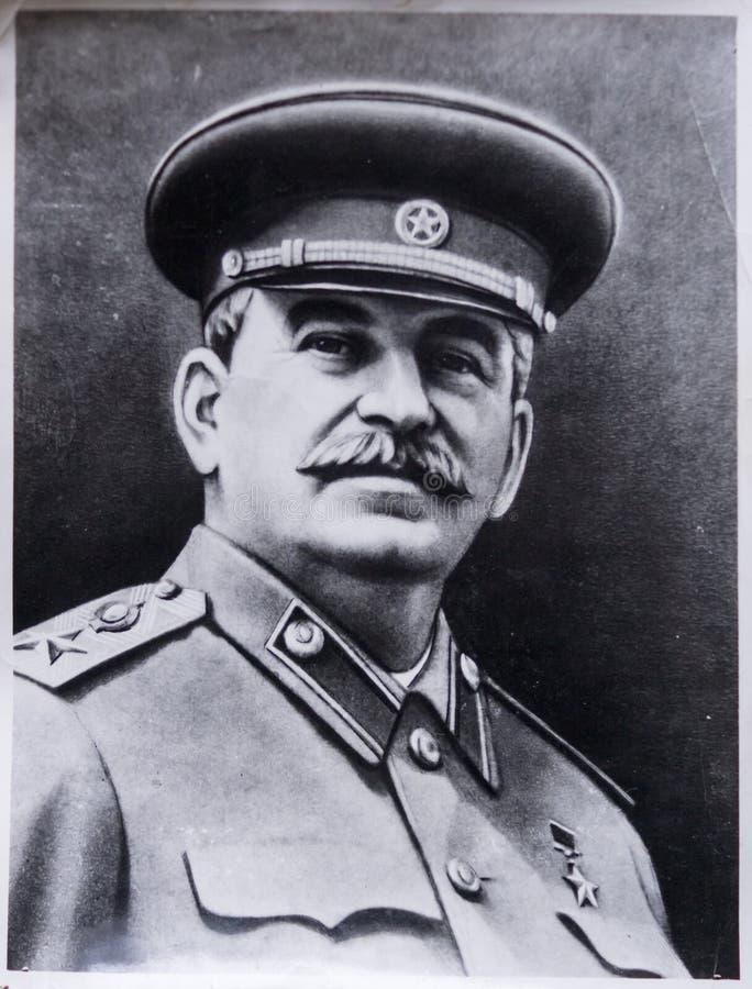 Παλαιά φωτογραφία του Στάλιν στοκ εικόνες
