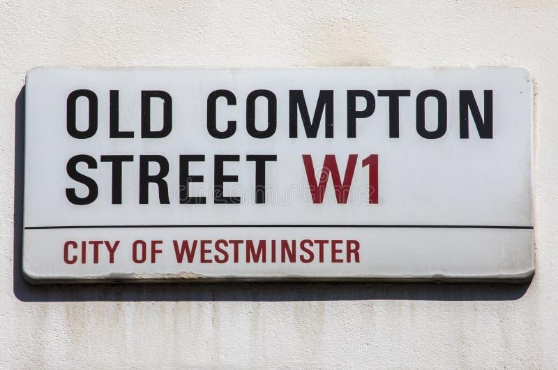 Παλαιά Compton οδός στο Λονδίνο στοκ εικόνες