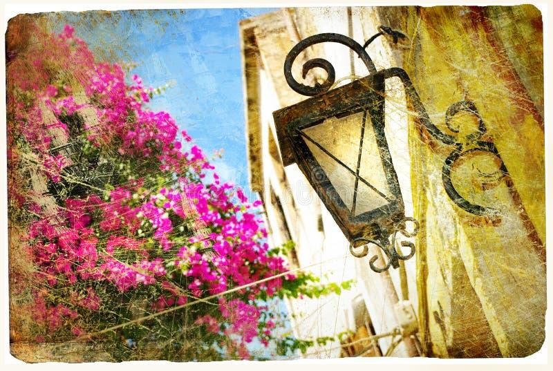 Παλαιές ελληνικές οδοί στοκ φωτογραφίες με δικαίωμα ελεύθερης χρήσης