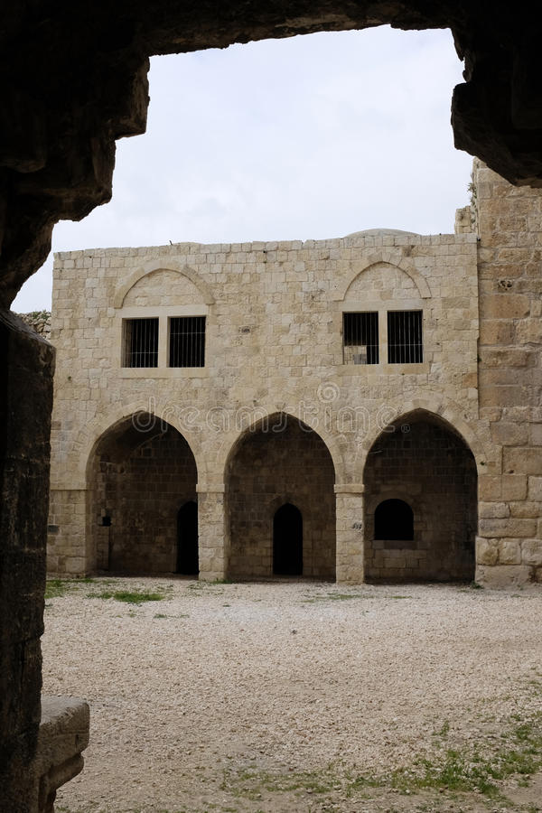 Παλαιές καταστροφές Mirabel Castle στοκ φωτογραφίες