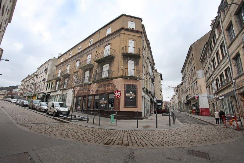 Παλαιές οδοί στο Saint-$l*Etienne, Γαλλία στοκ εικόνα με δικαίωμα ελεύθερης χρήσης