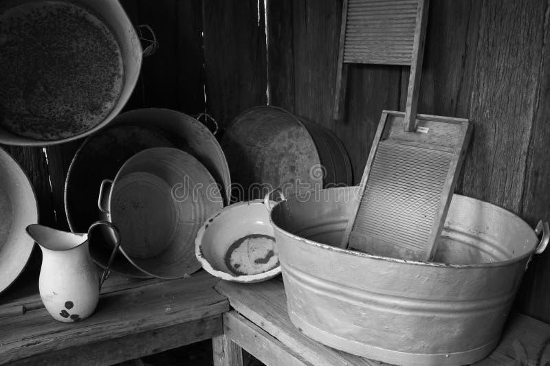 Παλαιές σκάφες πλύσης στοκ φωτογραφίες