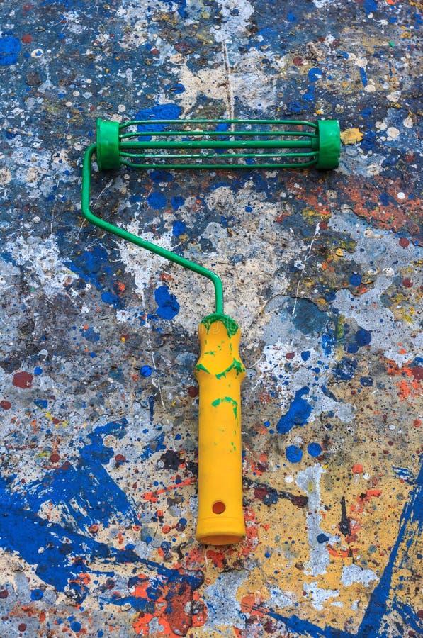Παλαιοί κύλινδροι χρωμάτων στοκ εικόνα με δικαίωμα ελεύθερης χρήσης