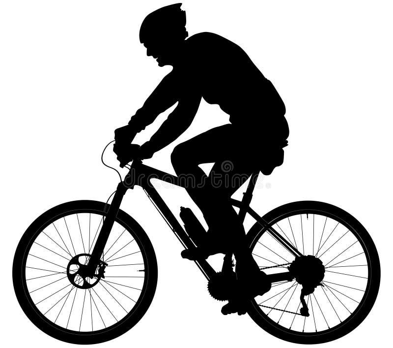 Παλαιοί ποδηλάτες ατόμων διανυσματική απεικόνιση