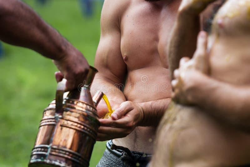 Παλαιστής στο φεστιβάλ πάλης Kirkpinar στοκ φωτογραφίες με δικαίωμα ελεύθερης χρήσης
