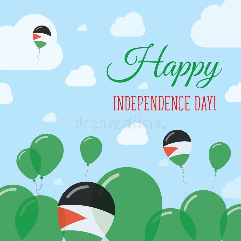 Παλαιστίνη, κράτος της ημέρας της ανεξαρτησίας επίπεδο απεικόνιση αποθεμάτων