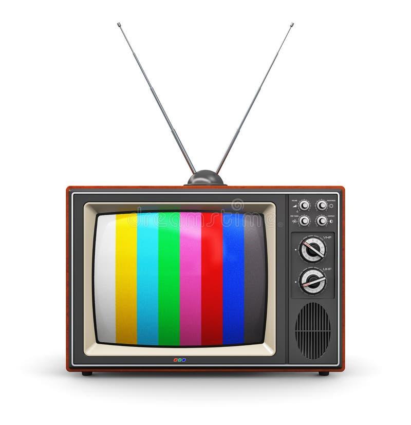 Παλαιός έγχρωμος τηλεοπτικός δέκτης ελεύθερη απεικόνιση δικαιώματος