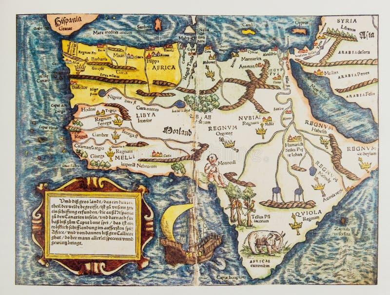 Παλαιός γερμανικός χάρτης της Αφρικής στοκ φωτογραφία με δικαίωμα ελεύθερης χρήσης