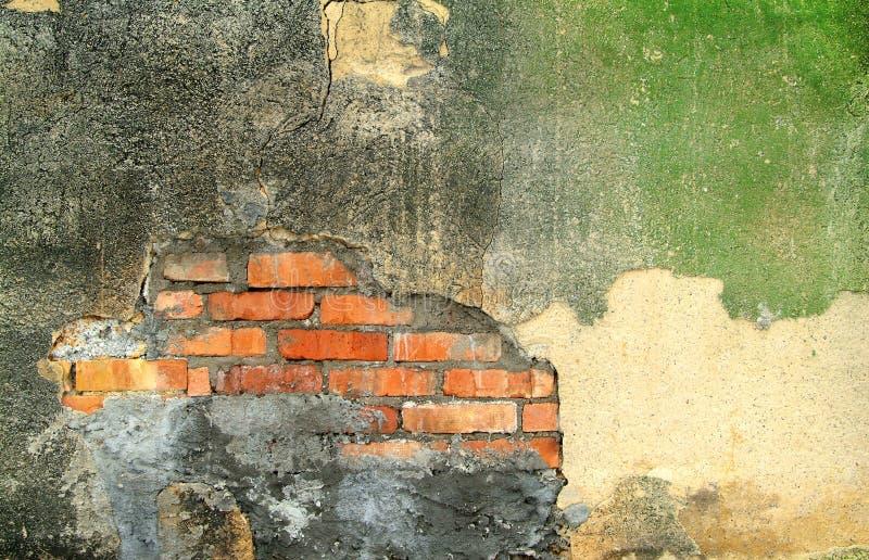 Παλαιός εξωτερικός τοίχος ενός εγκαταλειμμένου εργοστασίου στοκ φωτογραφία με δικαίωμα ελεύθερης χρήσης