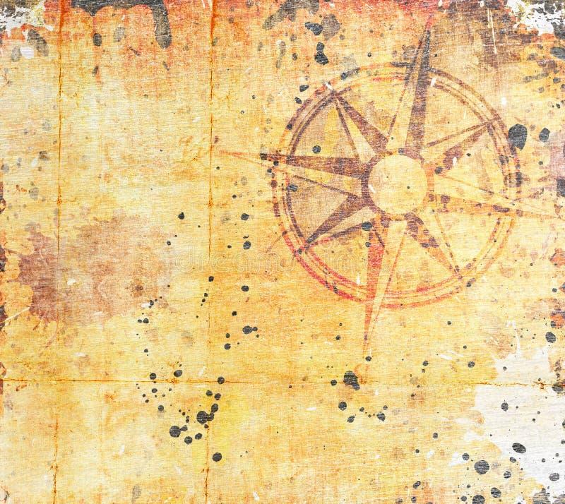 παλαιός θησαυρός χαρτών απεικόνιση αποθεμάτων