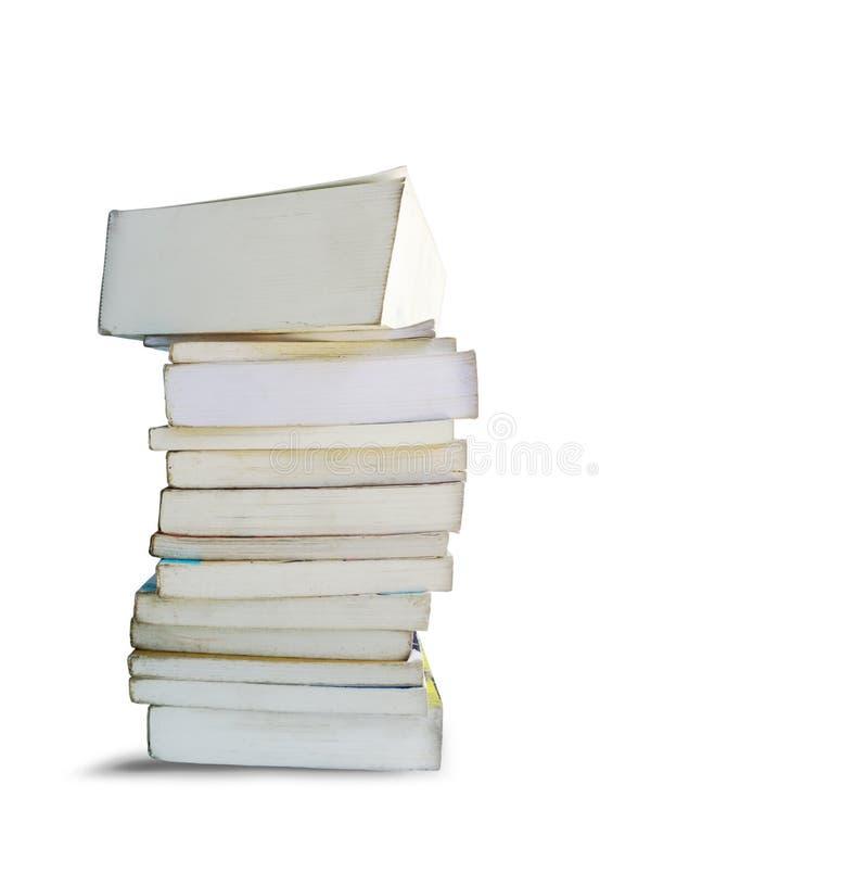 Παλαιός κάθετος σωρός βιβλίων στοκ εικόνα