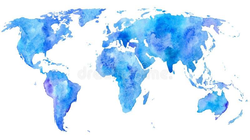 Παλαιός Κόσμος χαρτών απεικόνισης Γη ελεύθερη απεικόνιση δικαιώματος