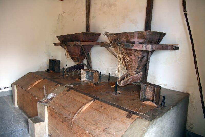 Παλαιός μύλος σιταριού στοκ εικόνες