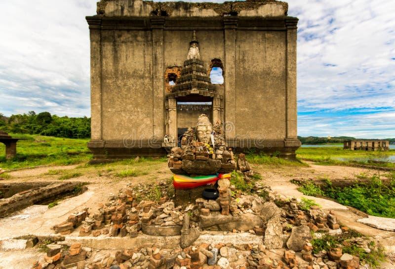 Παλαιός ναός Ταϊλάνδη WANG Wiwekaram Wat στοκ εικόνες με δικαίωμα ελεύθερης χρήσης
