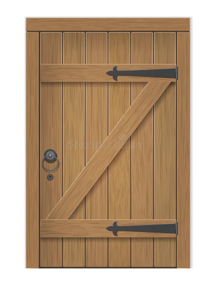 παλαιός ξύλινος πορτών διανυσματική απεικόνιση