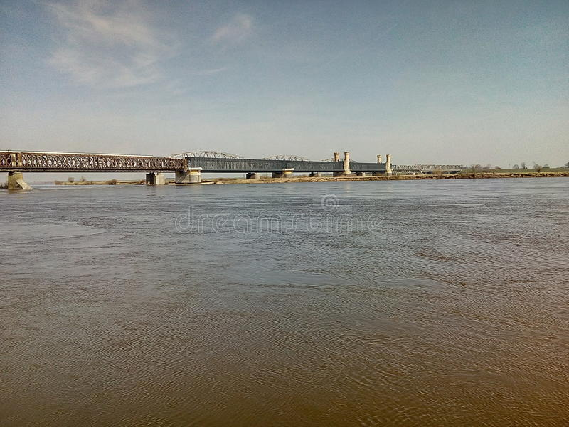 Παλαιός ποταμός της Πολωνίας γεφυρών στοκ φωτογραφία