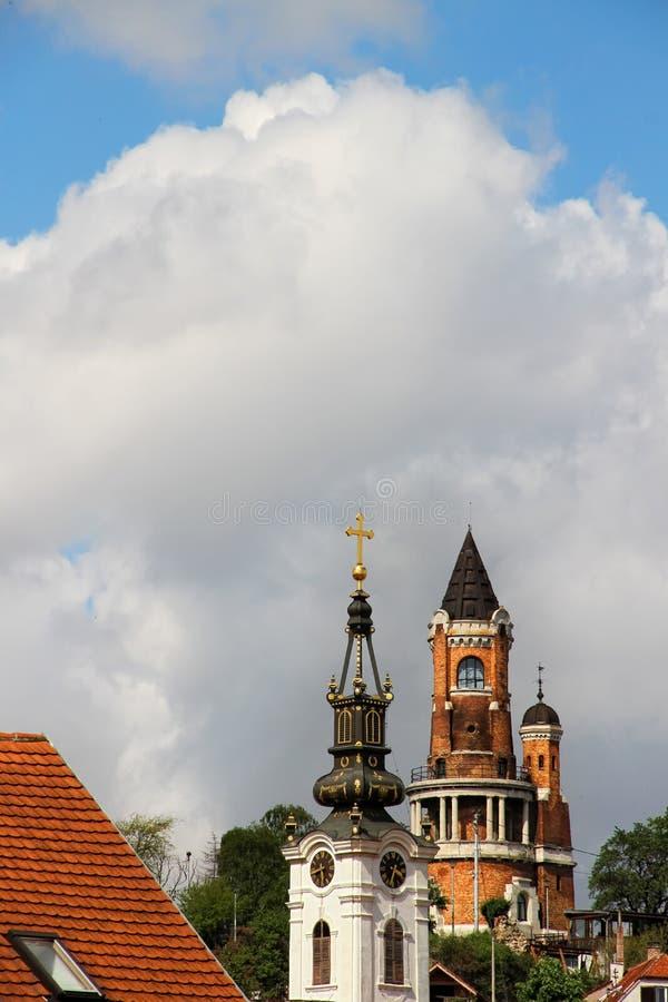 Παλαιός πύργος Gardos σε zemun-Βελιγράδι, Σερβία στοκ εικόνα