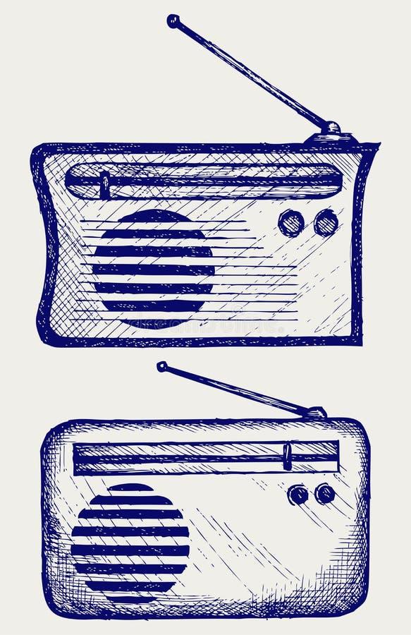 Παλαιός ραδιο δέκτης διανυσματική απεικόνιση