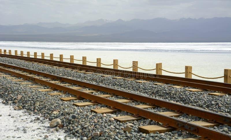 Παλαιός σιδηρόδρομος στο Σόλτ Λέικ Chaka στοκ φωτογραφίες