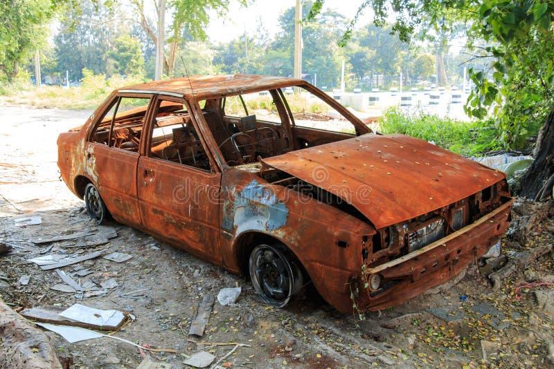 παλαιός σκουριασμένος αυτοκινήτων στοκ φωτογραφία