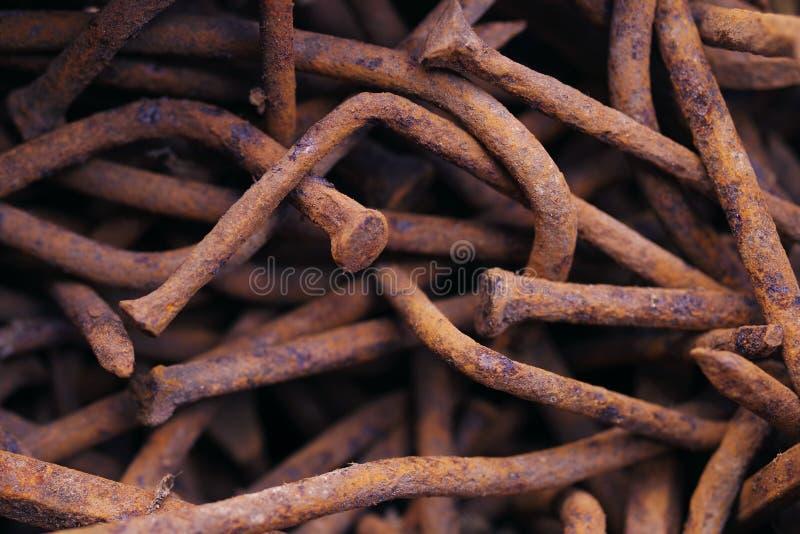 παλαιός σκουριασμένος καρφιών στοκ φωτογραφίες