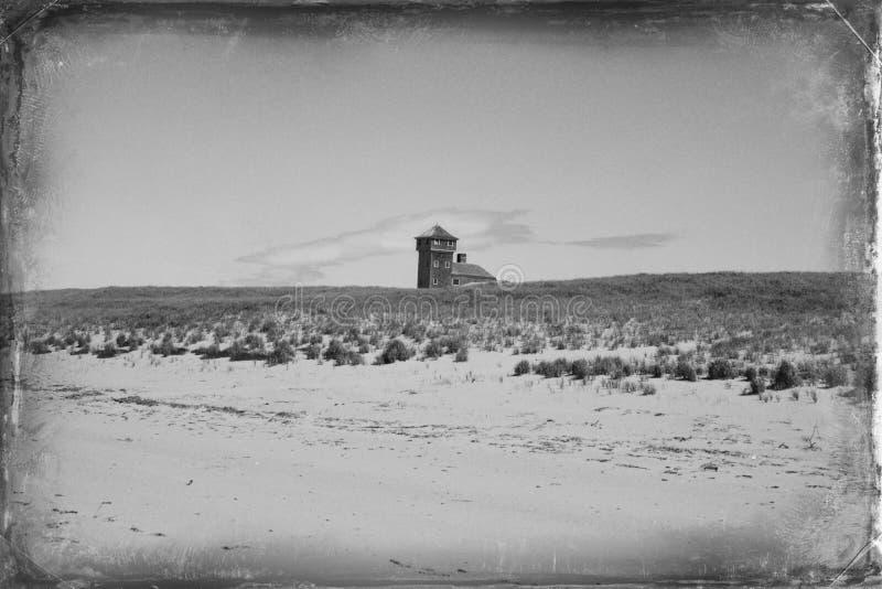 Παλαιός σταθμός λιμενικής διάσωσης, σημείο φυλών, Provincetown, βακαλάος ακρωτηρίων μΑ στοκ φωτογραφία