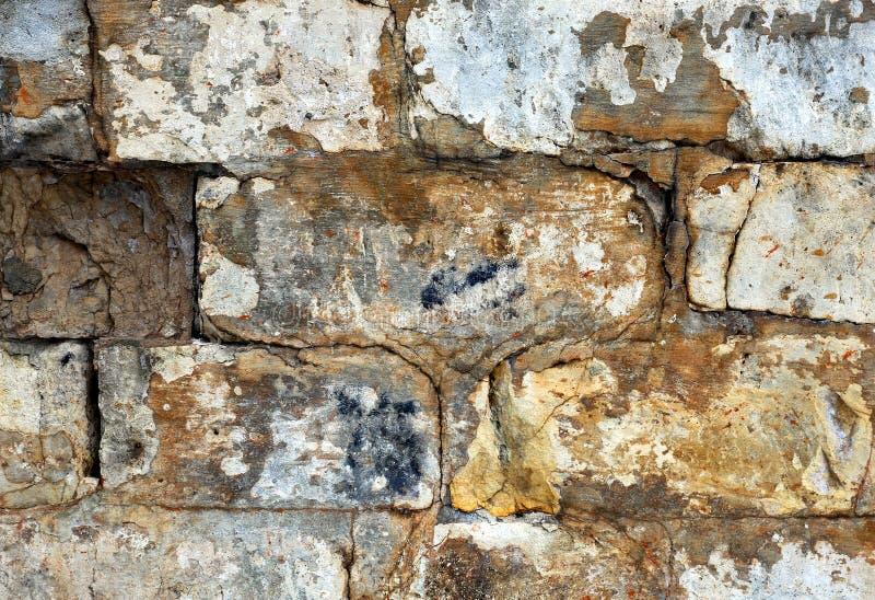 Παλαιός τοίχος τούβλου φωτογραφιών στοκ εικόνα