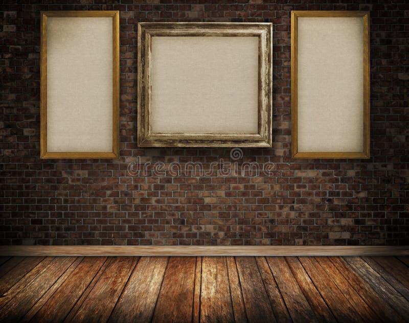 παλαιός τοίχος τούβλων α&n ελεύθερη απεικόνιση δικαιώματος