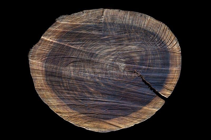 Παλαιός τραχύς ξύλινος τέμνων πίνακας άμεσα άνωθεν στοκ εικόνες