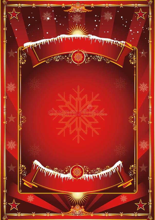 παλαιός τρύγος απόλυσης εγγράφου Χριστουγέννων ανασκόπησης απεικόνιση αποθεμάτων