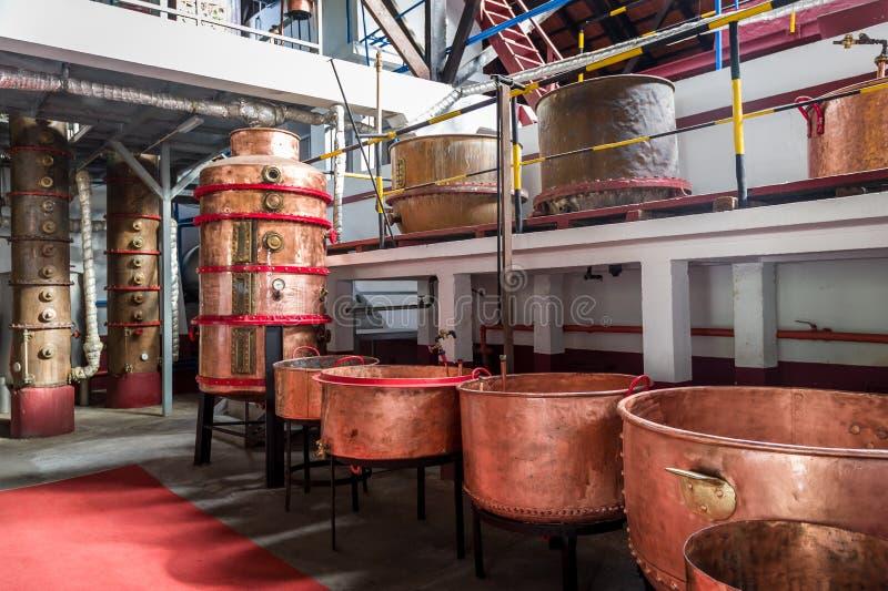 Παλαιός φούρνος του εργοστασίου ρουμιού στο Πόρτο DA Cruz, νησί της Μαδέρας στοκ φωτογραφίες