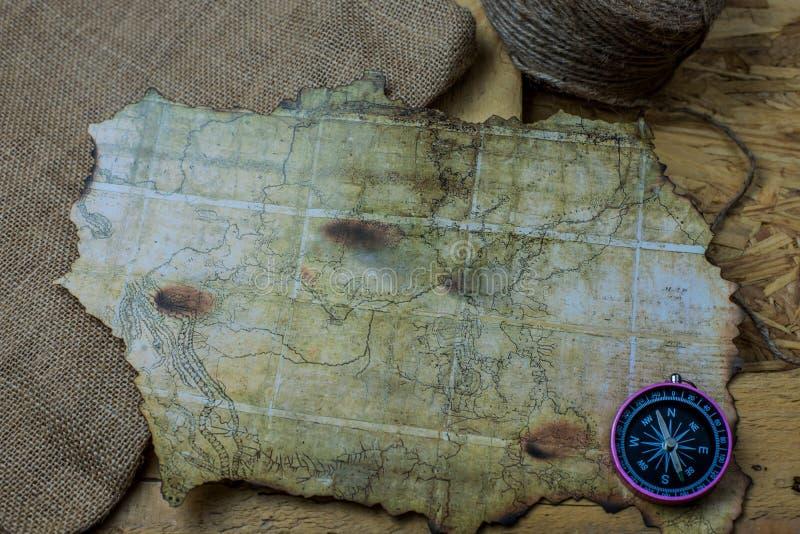Παλαιός χάρτης για τη ναυσιπλοΐα στοκ εικόνα