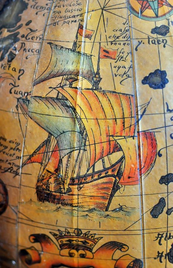 Παλαιός χάρτης θάλασσας στοκ εικόνες με δικαίωμα ελεύθερης χρήσης
