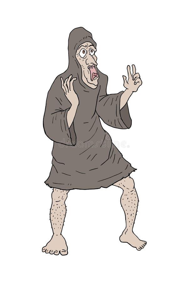 Παλαιός druid σύρει απεικόνιση αποθεμάτων