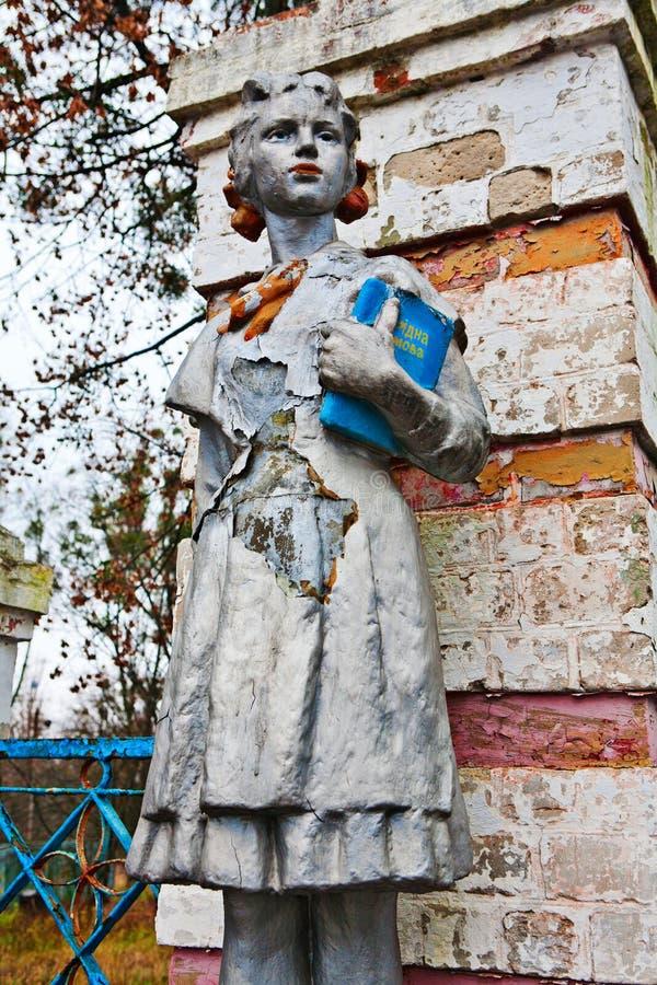 Παλαιό άγαλμα των σοβιετικών πρωτοπόρων στοκ φωτογραφία