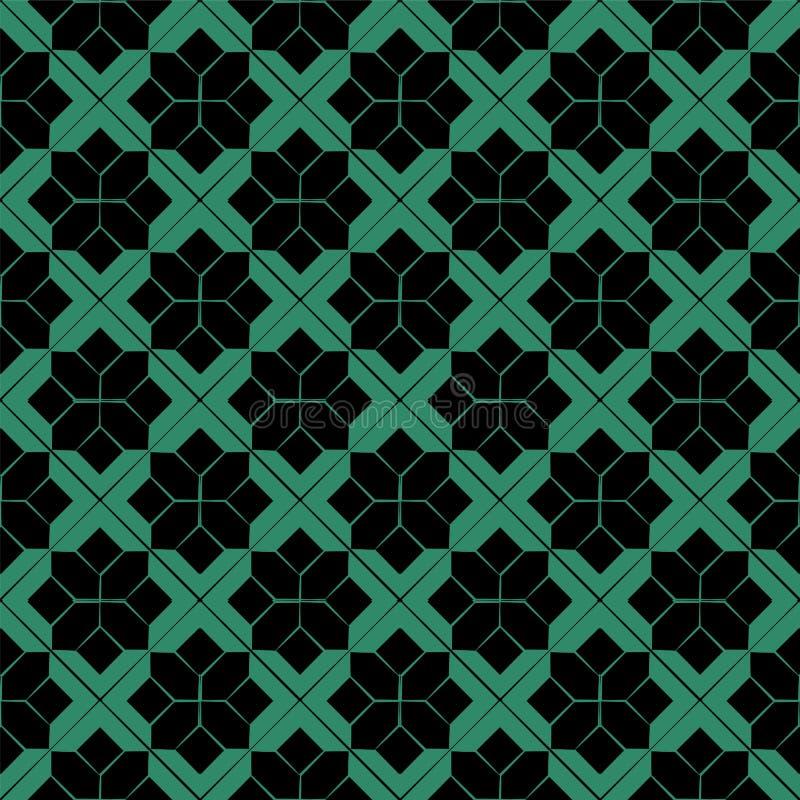 Παλαιό άνευ ραφής πράσινο ελέγχων ιστορικό αστέρι γεωμετρίας αστεριών διαγώνιο απεικόνιση αποθεμάτων