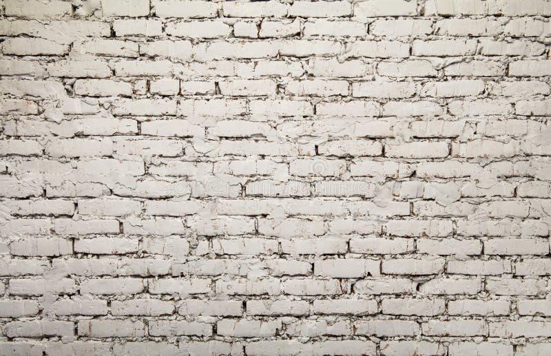 Παλαιό άσπρο χρωματισμένο grunge υπόβαθρο τουβλότοιχος στοκ εικόνες με δικαίωμα ελεύθερης χρήσης