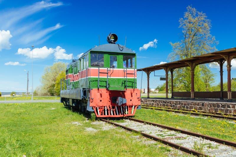 Παλαιό αναδρομικό κινητήριο τραίνο ύφους στοκ φωτογραφίες με δικαίωμα ελεύθερης χρήσης