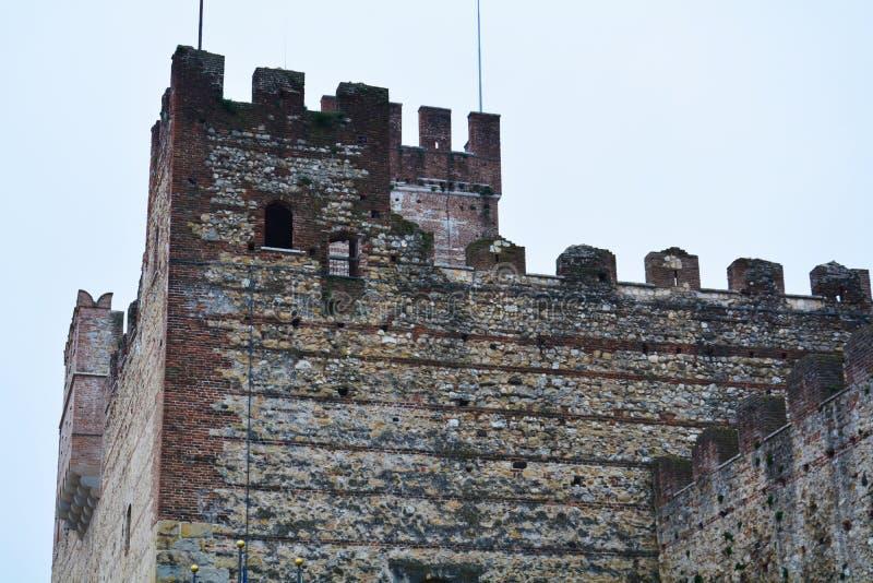 Παλαιό ανώτερο κάστρο σε Marostica, Βιτσέντσα στοκ εικόνα